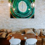 Artwork from local inglewood artist Dominika Warhann at the interior dining room